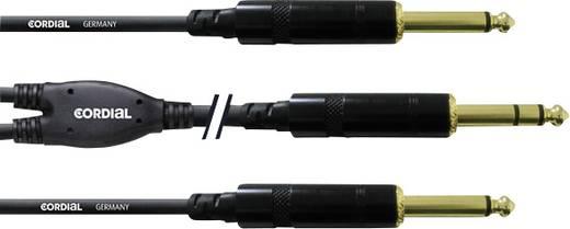Audio Y-Kabel [1x Klinkenstecker 6.35 mm - 2x Klinkenstecker 6.35 mm] 3 m Schwarz Cordial