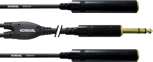 Klinken Adapterkabel [1x Klinkenstecker 6.35 mm - 2x Klinkenbuchse 6.35 mm] 0.3 m Schwarz Cordial