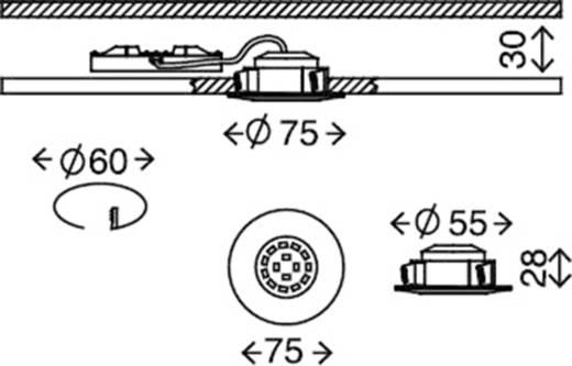 Briloner 7231-032 LED-Einbauleuchte 3er Set 16.5 W Warm-Weiß Nickel (matt)