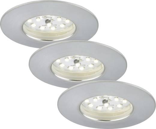 Briloner 7231-039 LED-Einbauleuchte 3er Set 16.5 W Warm-Weiß Aluminium