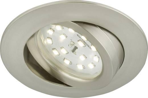 Briloner 7232-012 LED-Einbauleuchte 5.5 W Warm-Weiß Nickel (matt)