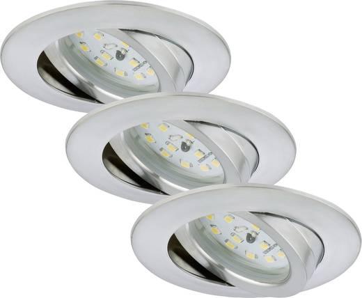 Briloner 7232-039 LED-Einbauleuchte 3er Set 16.5 W Warm-Weiß Aluminium