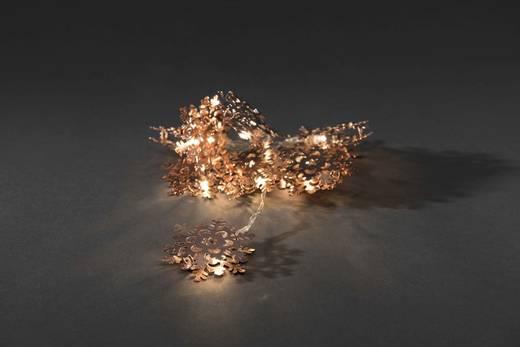 Konstsmide 3146-603 Motiv-Lichterkette Schneeflocken batteriebetrieben Warm-Weiß Beleuchtete Länge: 0.9 m