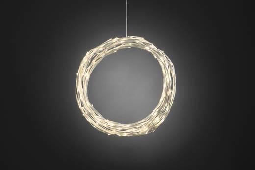 Konstsmide 3365-100 Tür-Dekoration Kranz Warm-Weiß LED Weiß