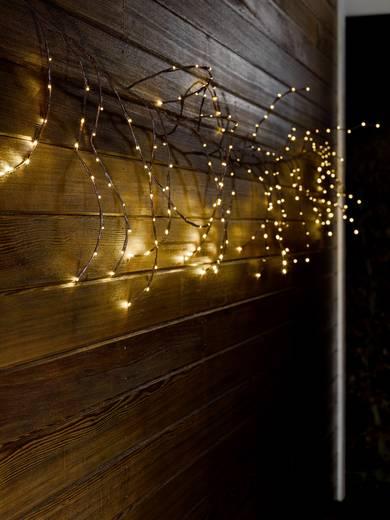 Konstsmide 3365-600 Tür-Dekoration Kranz Warm-Weiß LED Braun