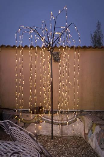 LED-Weihnachtsdekoration Trauerweide Warm-Weiß LED Konstsmide 3376-600 Braun