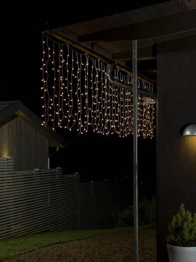 Lichtervorhang Außen 24 V 200 LED Warm-Weiß (L x B x H) 12.47 m x 247 cm x 100 cm Konstsmide