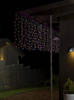 Guirlande lumineuse stalactites Konstsmide 3674-503 pour l'extérieur 24 V Ampoule LED multicolore (L x l x h) 12.47 m x