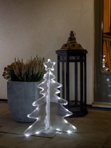 Acryl-Figur Weihnachtsbaum Kalt-Weiß LED 3920-203