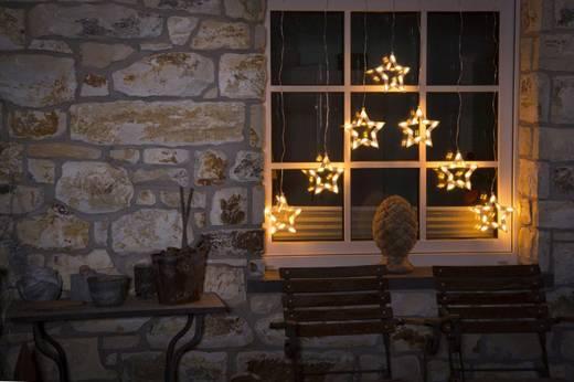 Konstsmide Lichtervorhang-Sterne Außen 24 V 70 LED Warm-Weiß (B x H) 72 cm x 118 cm