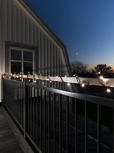 Konstsmide 6404-150 Micro-Lichterkette Außen 80 LED Kalt-Weiß Beleuchtete Länge: 3.9 m