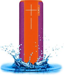 Enceinte Bluetooth UE ultimate ears UE Boom 2 Tropical NFC, protégée contre les projections d'eau, anti-chocs orange, vi
