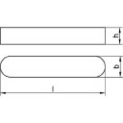 Passfedern DIN 6885 Stahl 100 St. TOOLCRAFT 138601