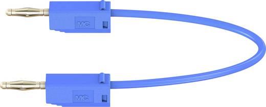 Stäubli LK205 Messleitung [Lamellenstecker 2 mm - Lamellenstecker 2 mm] 0.3 m Blau