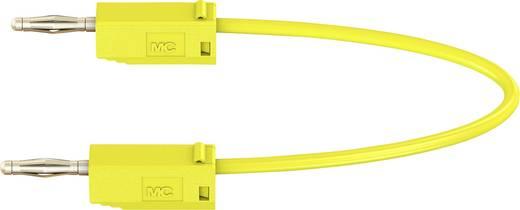 Messleitung [Lamellenstecker 2 mm - Lamellenstecker 2 mm] 0.075 m Gelb Stäubli LK205