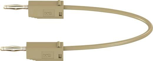Stäubli LK205 Messleitung [Lamellenstecker 2 mm - Lamellenstecker 2 mm] 0.45 m Braun