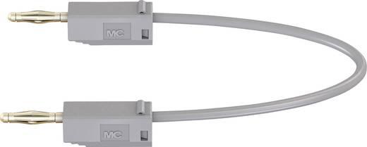 Stäubli LK205 Messleitung [Lamellenstecker 2 mm - Lamellenstecker 2 mm] 0.3 m Grau