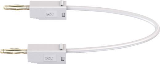 Messleitung [Lamellenstecker 2 mm - Lamellenstecker 2 mm] 0.15 m Weiß Stäubli LK205