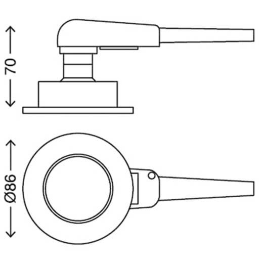 Einbauleuchte 3er Set GU10 9 W Briloner 7225-032 FIT Nickel (matt)