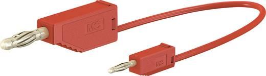 Stäubli AK205/410 Messleitung [Lamellenstecker 4 mm - Lamellenstecker 2 mm] 0.45 m Rot