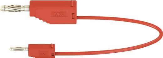 Messleitung [Lamellenstecker 4 mm - Lamellenstecker 2 mm] 0.075 m Rot Stäubli AK205/410
