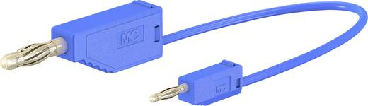 Stäubli AK205/410 Messleitung [Lamellenstecker 4 mm - Lamellenstecker 2 mm] 0.6 m Blau