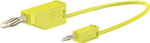 Messleitung [Lamellenstecker 4 mm - Lamellenstecker 2 mm] 0.075 m Gelb Stäubli AK205/410
