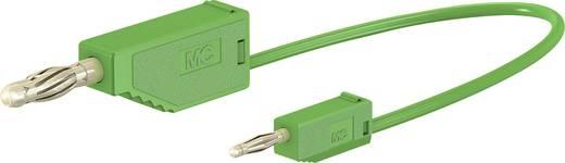 Messleitung [Lamellenstecker 4 mm - Lamellenstecker 2 mm] 0.6 m Grün Stäubli AK205/410