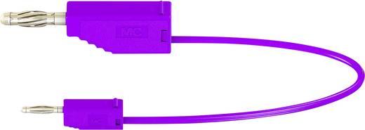 Stäubli AK205/410 Messleitung [Lamellenstecker 4 mm - Lamellenstecker 2 mm] 0.6 m Violett