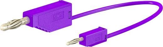Stäubli AK205/410 Messleitung [Lamellenstecker 4 mm - Lamellenstecker 2 mm] 0.075 m Violett