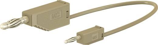 Messleitung [Lamellenstecker 4 mm - Lamellenstecker 2 mm] 0.075 m Braun Stäubli AK205/410