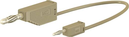 Stäubli AK205/410 Messleitung [Lamellenstecker 4 mm - Lamellenstecker 2 mm] 0.075 m Braun