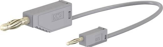 Stäubli AK205/410 Messleitung [Lamellenstecker 4 mm - Lamellenstecker 2 mm] 0.075 m Grau