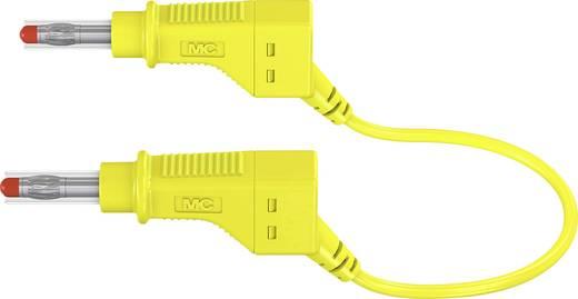 Stäubli XZG425/SIL Sicherheits-Messleitung [Lamellenstecker 4 mm - Lamellenstecker 4 mm] 1 m Gelb