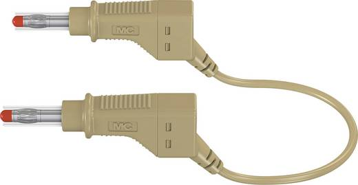 Sicherheits-Messleitung [Lamellenstecker 4 mm - Lamellenstecker 4 mm] 1.5 m Braun Stäubli XZG425/SIL
