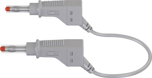 Stäubli XZG425/SIL Sicherheits-Messleitung [Lamellenstecker 4 mm - Lamellenstecker 4 mm] 0.5 m Grau