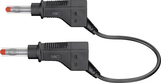 Stäubli XZG425/SIL Sicherheits-Messleitung [Lamellenstecker 4 mm - Lamellenstecker 4 mm] 0.5 m Schwarz