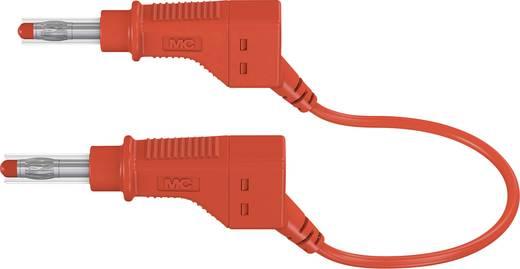 Stäubli XZG425/SIL Sicherheits-Messleitung [Lamellenstecker 4 mm - Lamellenstecker 4 mm] 1.5 m Rot