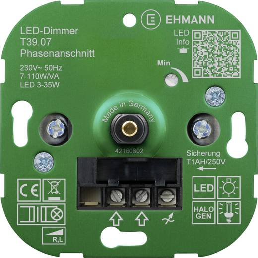unterputz dimmer geeignet f r leuchtmittel energiesparlampe led lampe halogenlampe gl hlampe. Black Bedroom Furniture Sets. Home Design Ideas