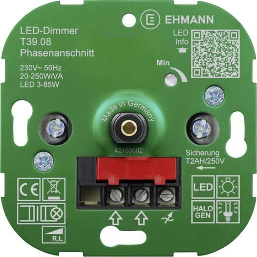 ehmann 3900x0800 unterputz dimmer geeignet f r leuchtmittel energiesparlampe led lampe. Black Bedroom Furniture Sets. Home Design Ideas