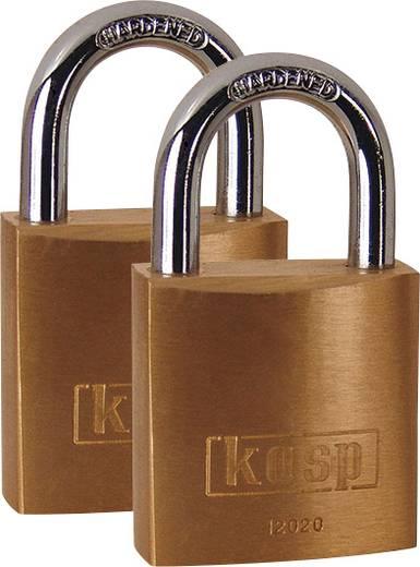 Kasp K12020D2 Vorhängeschloss 20 mm Gold-Gelb Schlüsselschloss