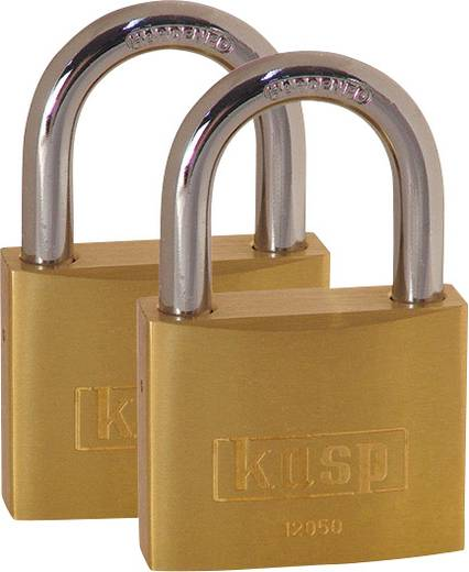 Vorhängeschloss 50 mm Kasp K12050D2 Gold-Gelb Schlüsselschloss