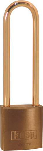 Kasp K12030L70BD Vorhängeschloss 30 mm Gold-Gelb Schlüsselschloss