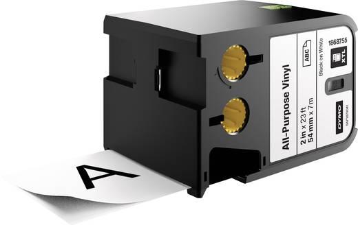 Schriftband Allzweck-Vinyl DYMO 1868755 XTL Bandfarbe: Weiß Schriftfarbe:Schwarz 54 mm 7 m