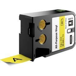Páska univerzálna (vinyl) DYMO XTL, žltá, čierna, 24 mm, 7 m