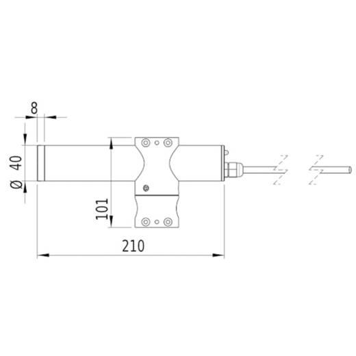 Lasermodul Linie Grün 45 mW Gresser Laser LE520-45-230(40x210)-G