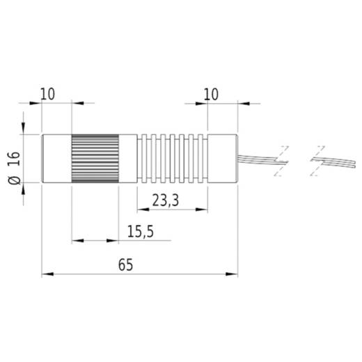 Lasermodul Linie Rot 5 mW Picotronic LC635-5-3-F(16x65)60DEG-C1500