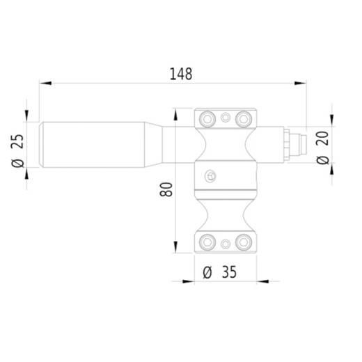 Lasermodul Linie Rot 25 mW Gresser Laser LD635-25-24(20x135)-M12