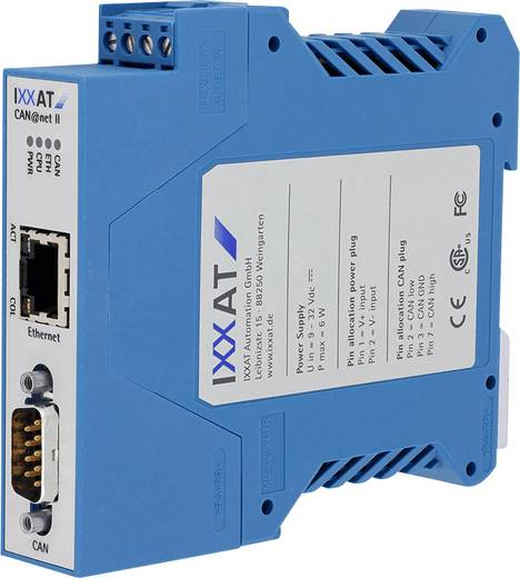 CAN Umsetzer CAN Bus, Ethernet Ixxat 1.01.0086.10201 12 V/DC, 24 V/DC