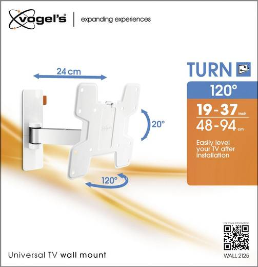 """Vogel´s WALL 2125 TV-Wandhalterung 48,3 cm (19"""") - 101,6 cm (40"""") Neigbar+Schwenkbar"""